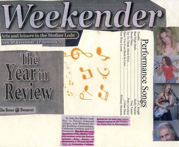Asia Davis headlines the Weekender